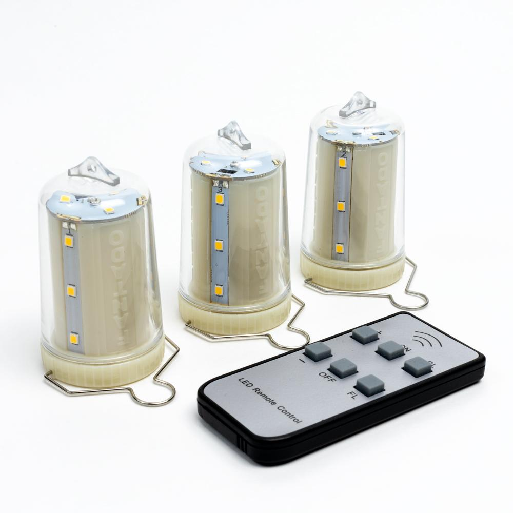 3-Pack Kit w/ Remote Control Warm White 12-LED Omni360 Omni-Directional Lantern Light, Hanging / Table Top (Battery Powered) - Luna Bazaar - Discover. Decorate. Celebrate