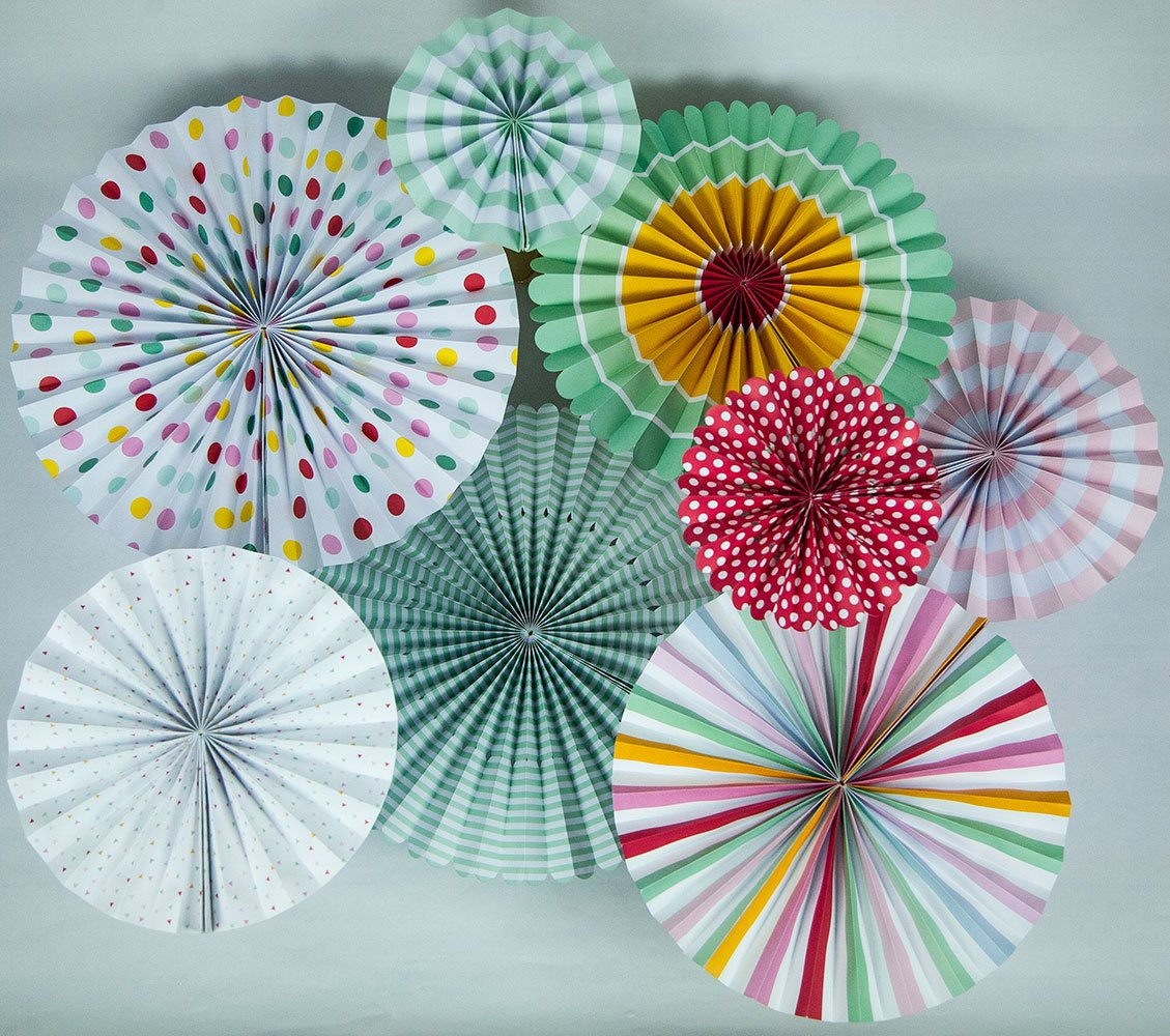 CLOSEOUT Colorful Paper Flower Pinwheel Backdrop Pinwheel Party Wall Decoration Combo Kit for Birthday Parties, Easter or any festive celebration - Luna Bazaar | Boho & Vintage Style Decor