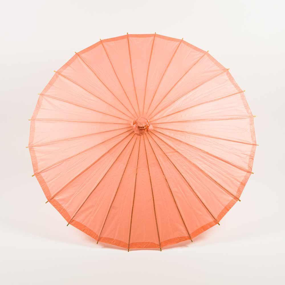 "20"" Roseate / Pink Coral Paper Parasol Umbrella for Weddings and Parties - Great for Kids (Sun Protection) - Luna Bazaar 