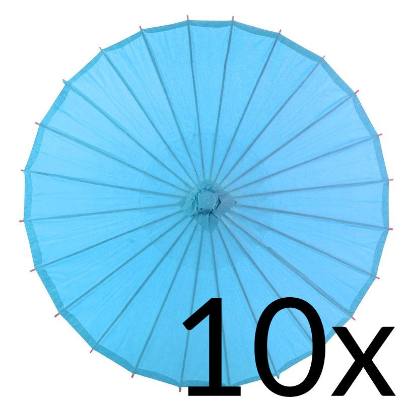 "10-Pack 32"" Turquoise Paper Parasol Umbrellas - Luna Bazaar - Discover. Decorate. Celebrate"