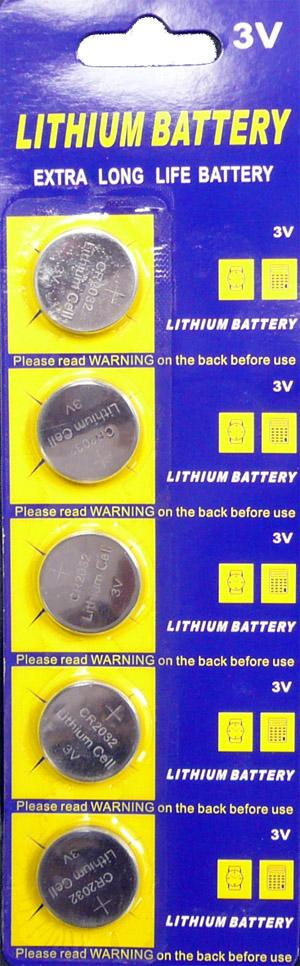 CR2032 Coin Cell Batteries for LED Lights and Remote Controls (5 Pack) - Luna Bazaar | Boho & Vintage Style Decor