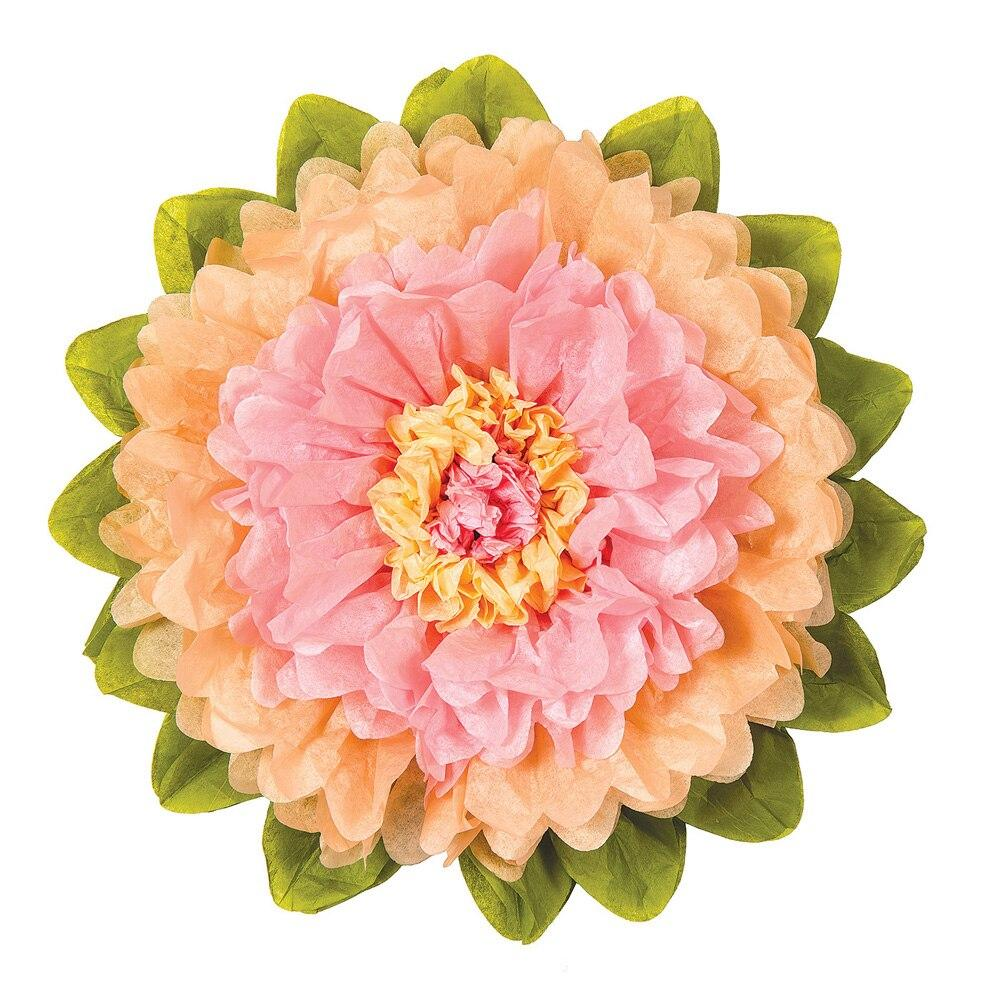 Giant Tissue Paper Flower (24-Inch, Pink & Cantaloupe Orange) - Luna Bazaar - Discover. Decorate. Celebrate