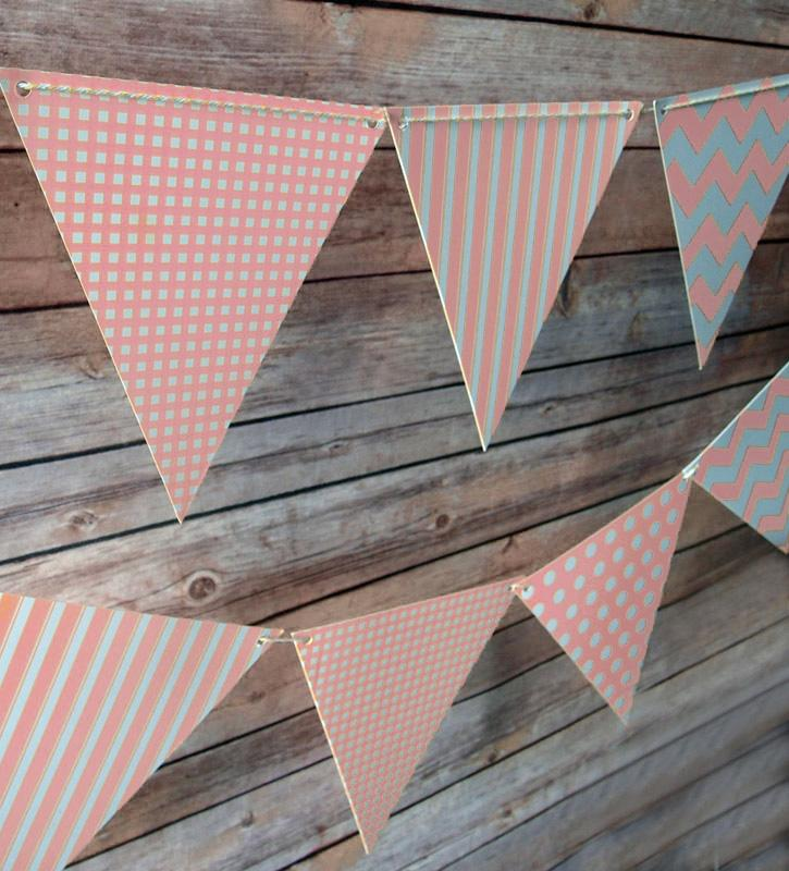 CLOSEOUT Pink Mix Pattern Triangle Flag Pennant Banner (11FT) - Luna Bazaar | Boho & Vintage Style Decor