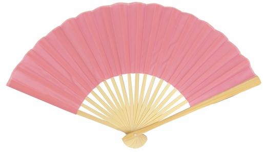 "50-Pack 9"" Pink Silk Hand Fans for Weddings - Luna Bazaar - Discover. Decorate. Celebrate"