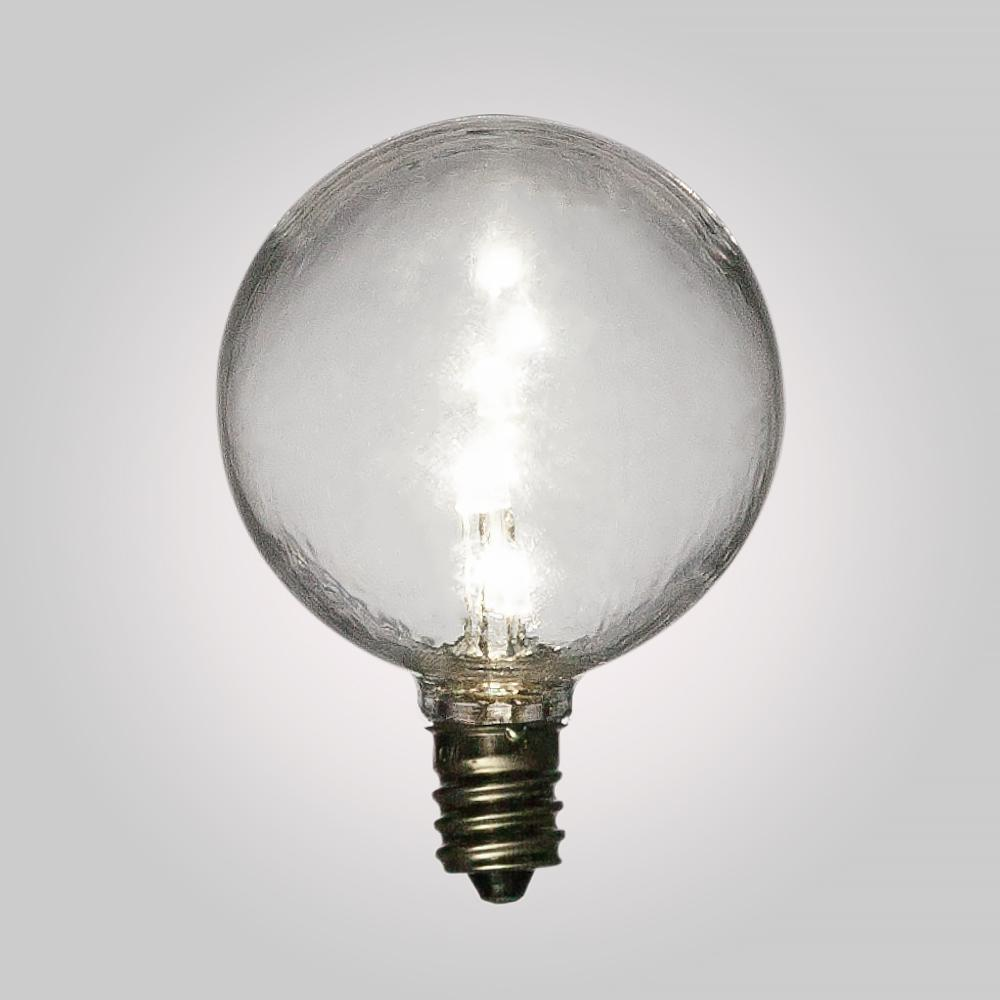 White .5-Watt LED G40 Globe Light Bulb, Shatterproof, E12 Candelabra Base - Luna Bazaar - Discover. Decorate. Celebrate