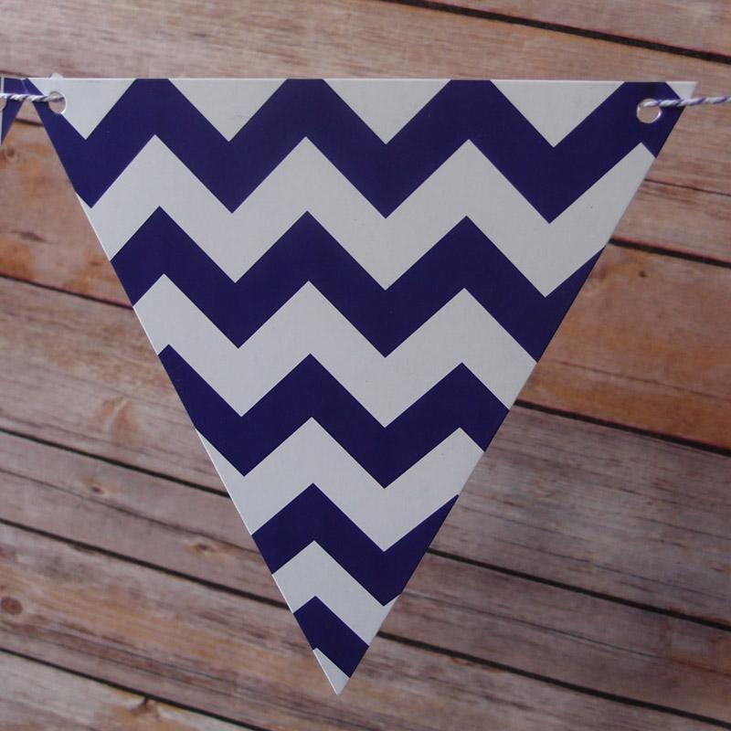 CLOSEOUT Purple Mix Pattern Triangle Flag Pennant Banner (11FT) - Luna Bazaar | Boho & Vintage Style Decor