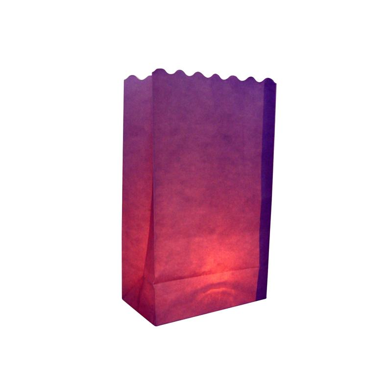 Purple Solid Color Paper Luminaries / Luminary Lantern Bags Path Lighting (10 PACK) - Luna Bazaar | Boho & Vintage Style Decor