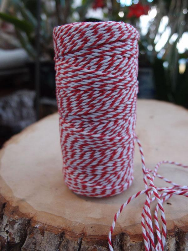 Red Bakers Twine Decorative Craft String - Luna Bazaar | Boho & Vintage Style Decor