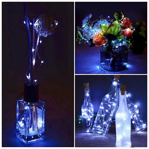 3 Ft 10 Super Bright Cool White LED Solar Operated Wine Bottle lights With Cork DIY Fairy String Light For Home Wedding Party Decoration - Luna Bazaar - Discover. Decorate. Celebrate