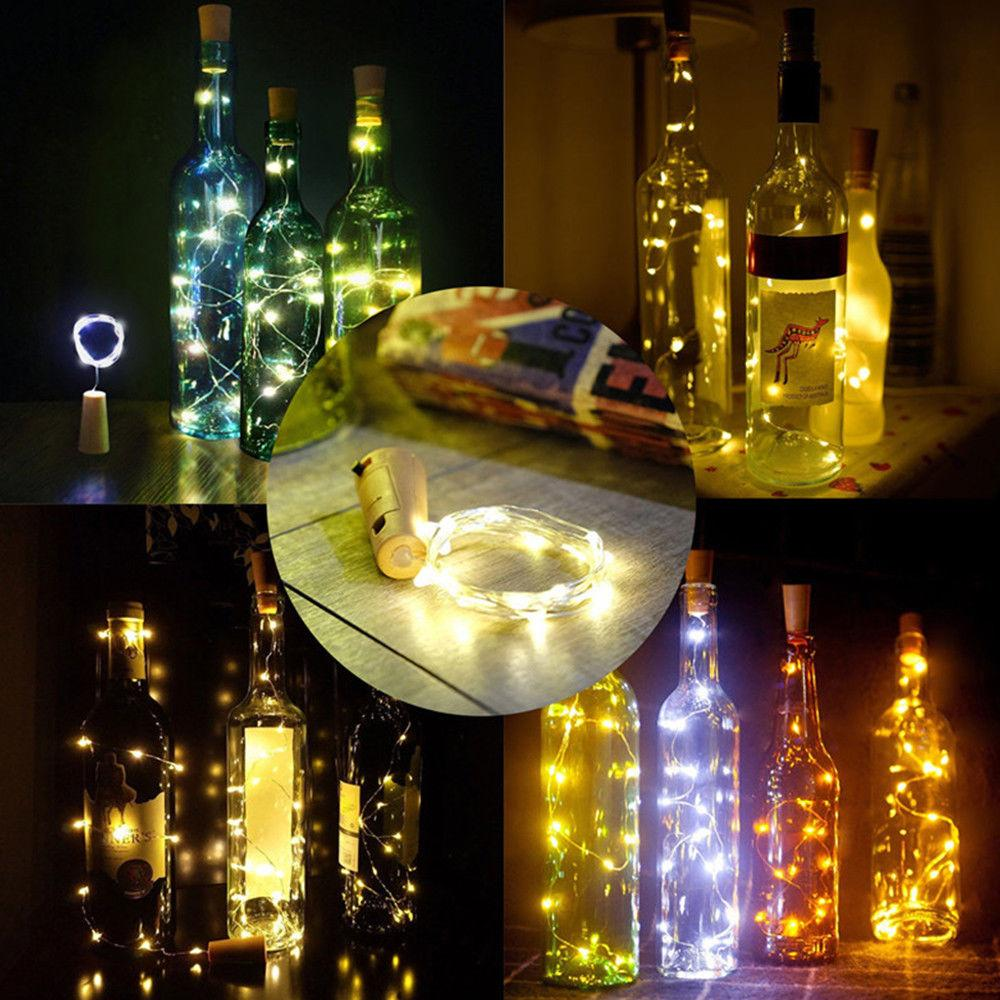 3-Pack 3 Ft 10 Super Bright Warm White LED Solar Operated Wine Bottle lights With Cork DIY Fairy String Light For Home Wedding Party Decoration - Luna Bazaar - Discover. Decorate. Celebrate