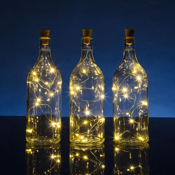3 Pack 3 Ft 10 Super Bright Warm White Led Solar Operated Wine Bottle Lights With Cork Diy Fairy String Light For Home Wedding Party Decoration Cork Wine Bottle Lights Solar And