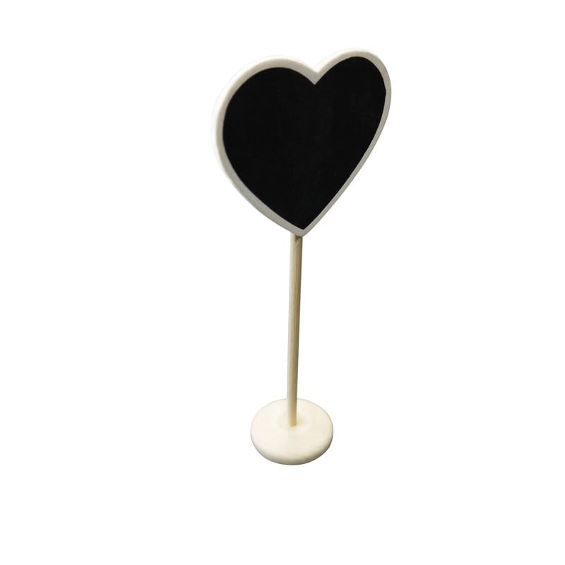 CLOSEOUT Heart Standing Wedding Chalkboard Sign Table Number Holder - Luna Bazaar - Discover. Decorate. Celebrate