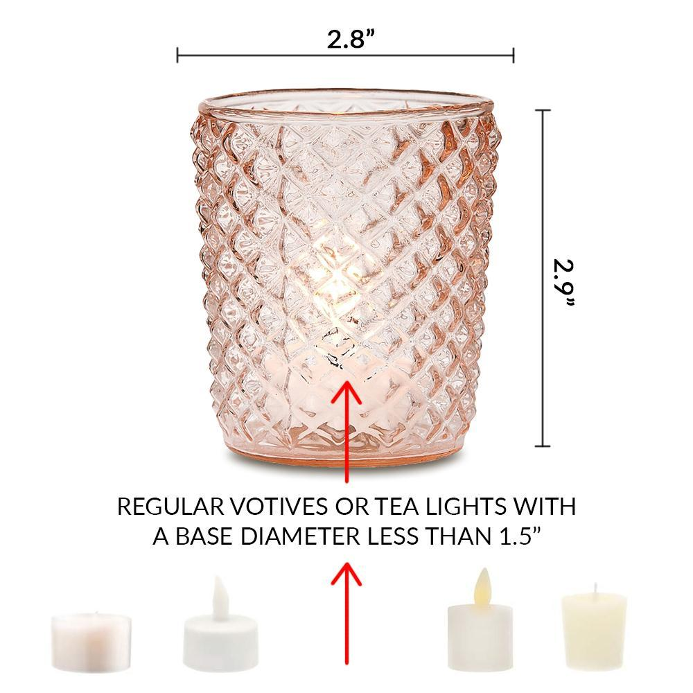 Zariah Mercury Glass Tealight Holder - Pearl White For Use with Tea Lights - For Home Decor, Parties and Wedding Decorations - Luna Bazaar | Boho & Vintage Style Decor