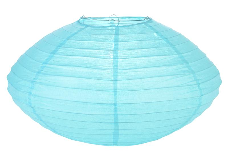 "16"" Water Blue Saturn Paper Lantern - Luna Bazaar - Discover. Decorate. Celebrate"