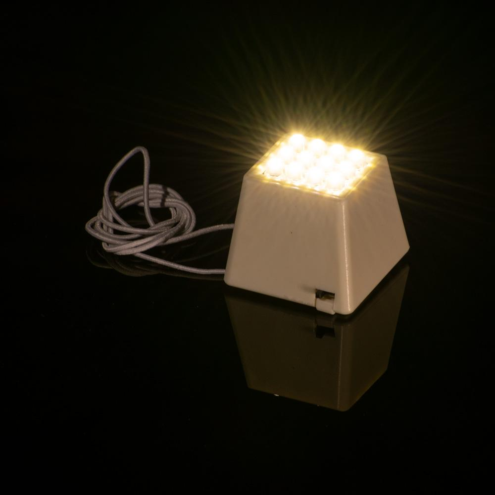 Fantado MoonBright™ Portable 12-LED Super Bright Cube Light For Lanterns, Warm White (Battery Powered) - Luna Bazaar | Boho & Vintage Style Decor