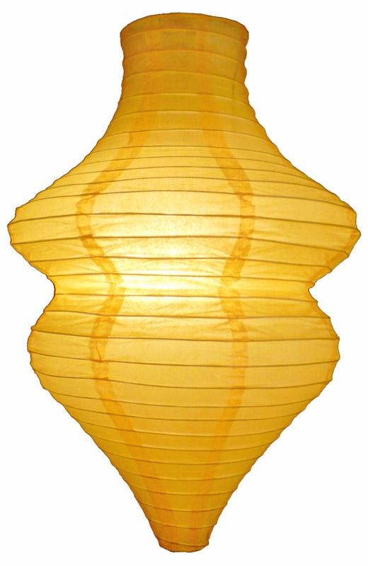 Yellow Beehive Unique Shaped Paper Lantern, 10-inch x 14-inch - Luna Bazaar | Boho & Vintage Style Decor