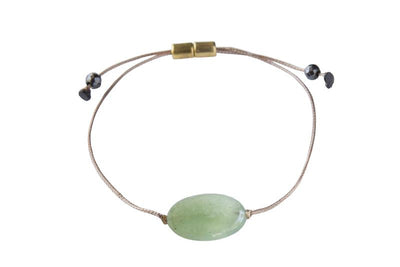 Adjustable gemstone bracelet to manifest healing and wellness.