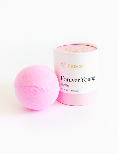 "Bath bomb called ""forever young"" leaves skin feeling renewed and makes a great gift"