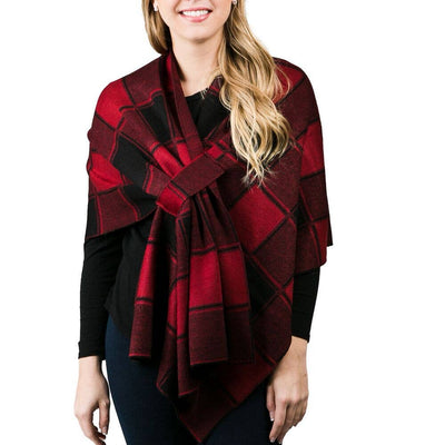 Versatile wrap in red check