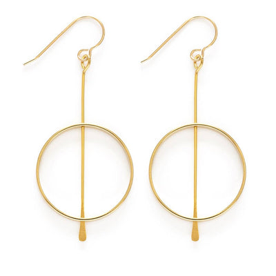 Kinetic earrings are 2 inches long with gold filled ear wires