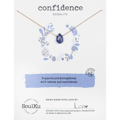Sodalite necklace makes a meaningful gift and supports self-esteem and confidence.