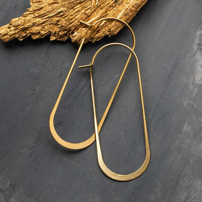 Simple hoop earrings made from 18k gold vermeil