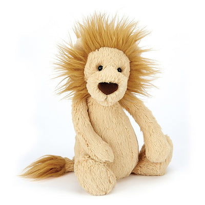 "Scruffy mane lion caramel color 7"" tall"