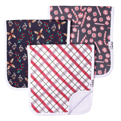 Holiday baby burp cloth