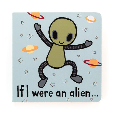 "Alien board book 6""x6"" with tactile pages"