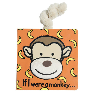 "Jellycat monkey board book in bright colors 6"" x 6"""