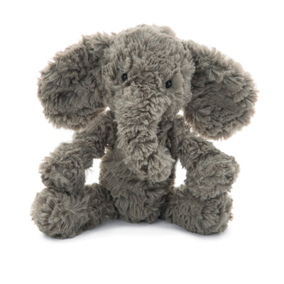 "Jellycat long trunk and floppy eared elephant in grey approx. 9"" tall"