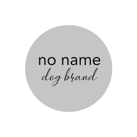 no name dog brand