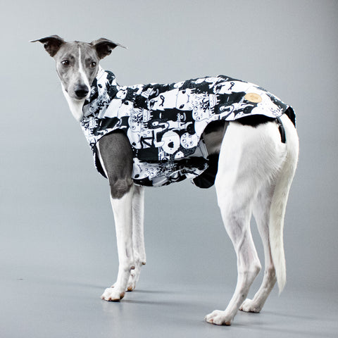 City Breeze dog raincoat™ WHIPPET Regenmantel Monster