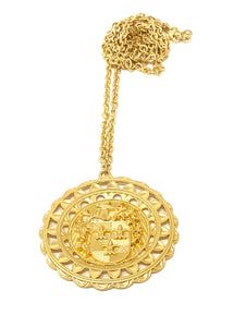 Royal Crest Coin Necklace
