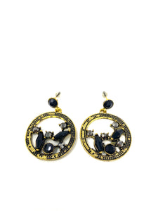 Black Onyx Pharaoh Earrings