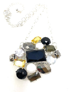 Jewel Cluster Necklace