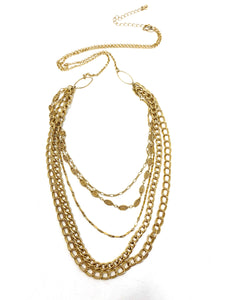 Multi-Layer Gold Chain Necklace