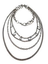 Load image into Gallery viewer, Gunmetal tone Layered Necklace