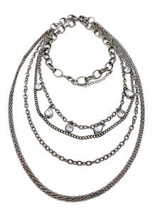 Gunmetal tone Layered Necklace