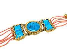 Load image into Gallery viewer, turquoise Blue Handmade Bracelet