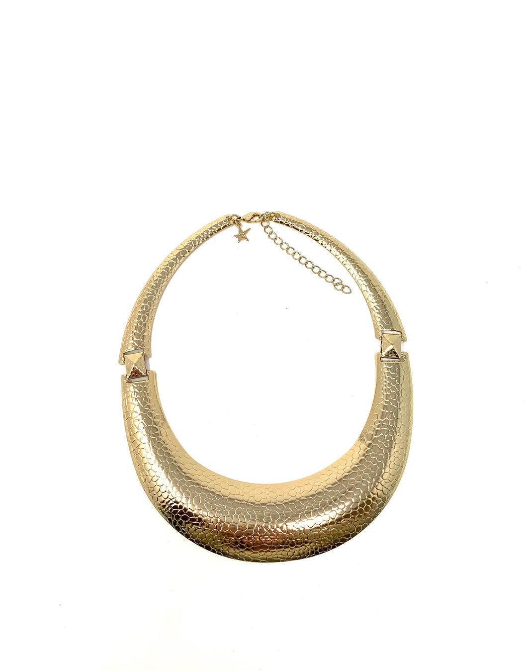 Snakeskin Bohemien Golden Metal Necklace