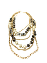 Load image into Gallery viewer, Smokey multi chain statement necklace
