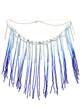 Load image into Gallery viewer, Blue Fringe Swing Necklace