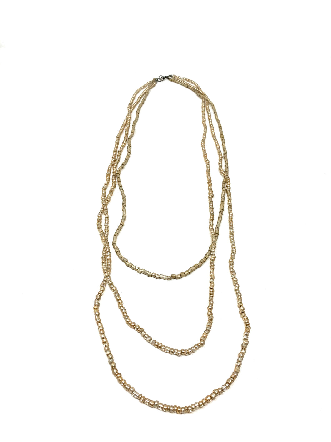 Gold Patina Layered Necklace
