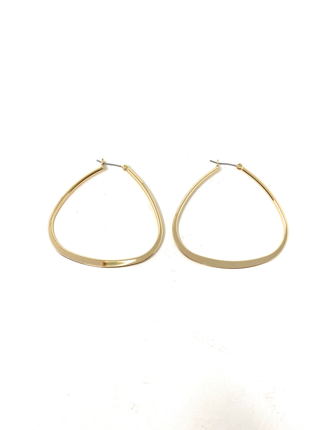 Modern Geometric Gold Hoop Earrings