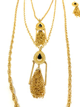 Load image into Gallery viewer, Egyptian Tassel Necklace and Earring Set