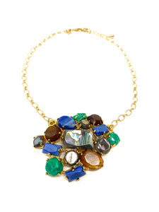 Ocean Colored Statement Necklace