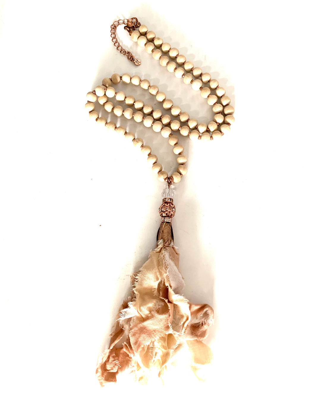 Rose Gold Hippie Tassel Necklace