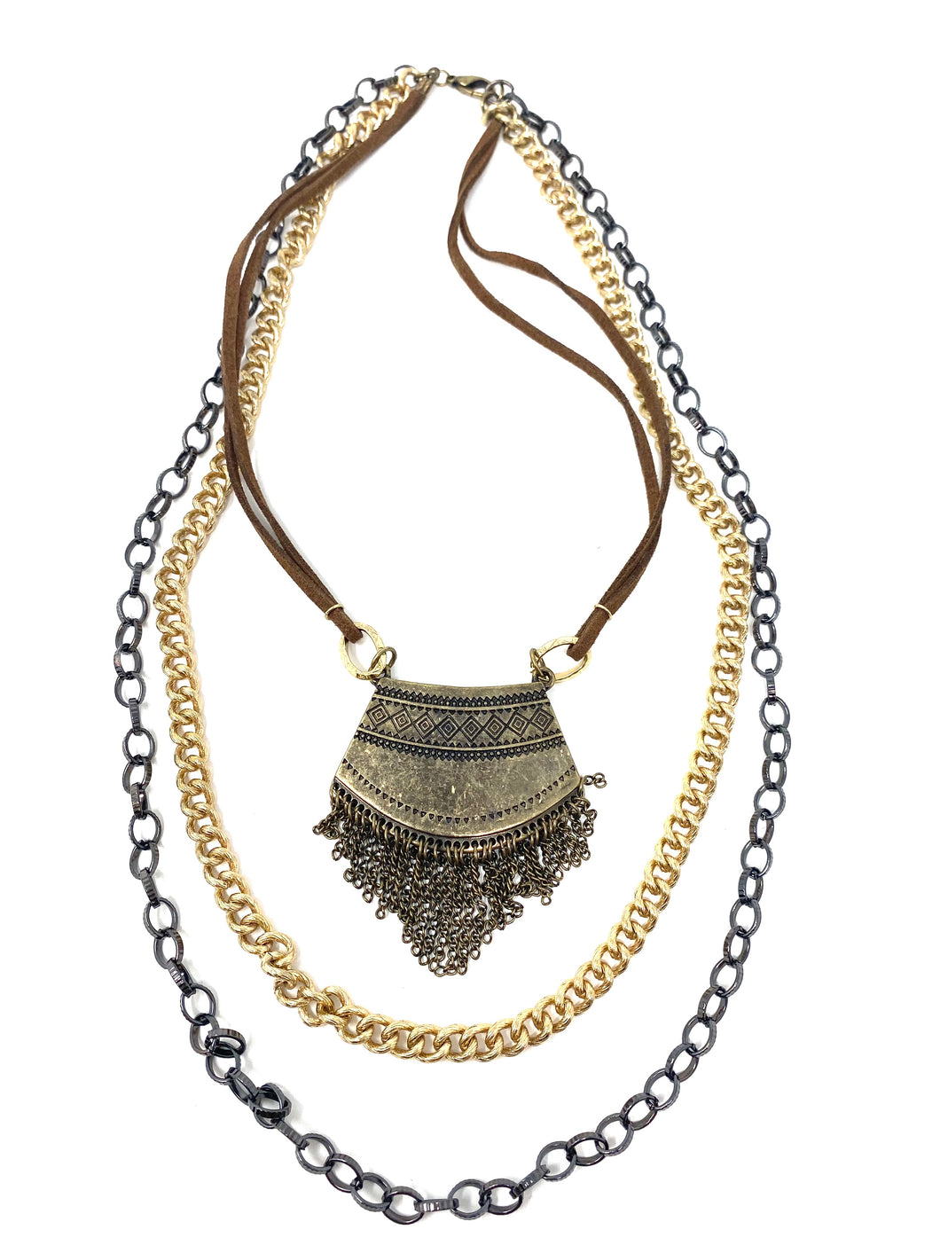 Multi-Layered and Textured Boho Necklace