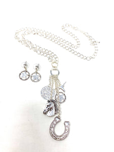 Western Charm Necklace and Earring Set